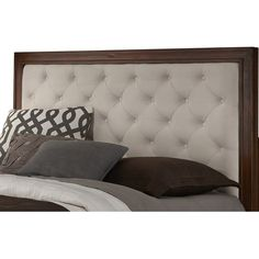 Home Styles Duet Tufted Diamond Panel Headboard Chic Master Bedroom, Bedroom Bed Design, Home Decor Bedroom, Bedroom Ideas, Master Suite, Headboard Shapes, Panel Headboard, Beds For Small Spaces, Wood Bed Design