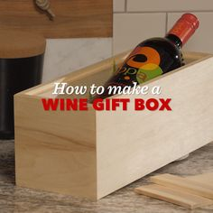 Saturday Morning Workshop: How To Build a Wine Box Wood Shop Projects, Woodworking Projects Diy, Custom Woodworking, Bride Speech Examples, Pallet Wall Art, Wine Gift Boxes, Diy Furniture Easy, Bottle Box, Aging Wood