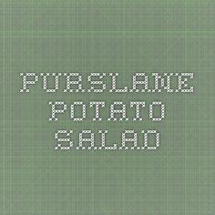 Purslane Potato Salad