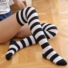 High Elasticity Girl Cotton Knee High Socks Uniform Cute Panda Bear Platinum Style Women Tube Socks