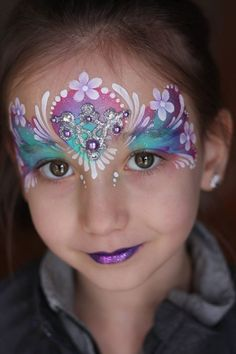 Bling for Face Painting 10 pieces by NadinesDreams on Etsy Princess Face Painting, Girl Face Painting, Mask Painting, Face Painting Designs, Mermaid Face Paint, Face Jewels, Maquillaje Halloween, Kids Makeup, Henna Artist