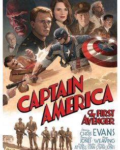 """4,503 Likes, 20 Comments - The Geek Realm ✌ (@thegeekrealm) on Instagram: """"#ThrowbackThursday """"Captain America: The First Avenger"""" Movie Poster by Paolo Rivera @paolomrivera…"""""""