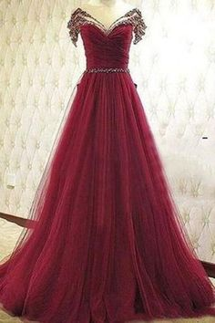 Pd61139 Charming Prom Dress,Tulle Prom Dress,Beading Prom Dress,A-Line Evening Dresses uk