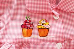 "Bata ""Cupcake"". Detalle."