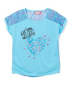 River Blue 'All You Need Is Heart' Tee - Girls