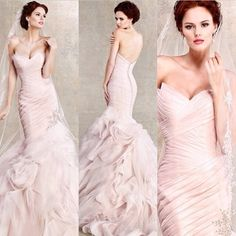 Wedding Dress / Wedding Gown by @kittychencouture #kittychencouture Are you going with a hint of color for your wedding gown? #engaged #bridetobe #weddingplanning #weddingdress #weddinggown #dressshopping #instafashion #thecoordinatedbride #weddinggow