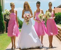 Sparkly Bridesmaid Dresses In Blue Or Purple Or Pink 3