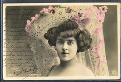 QK129 ARTIST STAGE STAR D'HORVILLY  Large  HAT Tinted PHOTO pc WALERY
