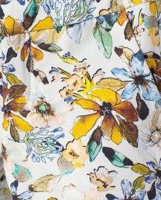 Afbeelding 4 van Broek met bloemenprint van Zara