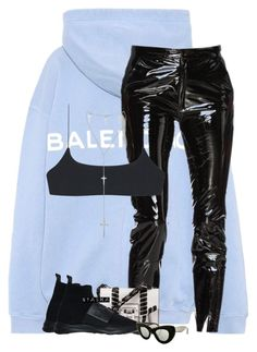 """""""Untitled #500"""" by nyashaa ❤ liked on Polyvore featuring Balenciaga, Balmain, Proenza Schouler and CÉLINE"""