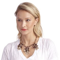Women's Berry Metal Cluster Fringe Statement Necklace by Sole Society