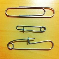 turn paperclips into safety pins