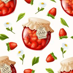 Strawberry jam seamless pattern vector - https://www.welovesolo.com/strawberry-jam-seamless-pattern-vector/?utm_source=PN&utm_medium=welovesolo59%40gmail.com&utm_campaign=SNAP%2Bfrom%2BWeLoveSoLo