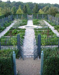 Andrea Filippone vegetable garden potager ; Gardenista (lots of good ideas for avoiding deer and groundhog damage)