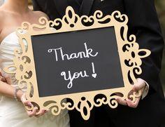 Wedding thank you sign