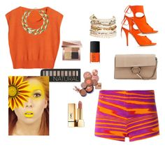 """""""Orange is a must"""" by babis117 ❤ liked on Polyvore featuring Missoni, Aquazzura, Chloé, Kenneth Jay Lane, Panacea, Forever 21, Bobbi Brown Cosmetics, NARS Cosmetics and Yves Saint Laurent"""