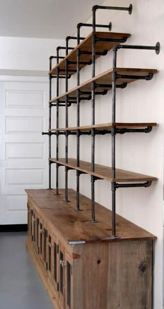 Diy Pipe And Wood Shelves: