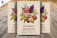 Autumn Festival Flyer Template by Madhabi Studio on @creativemarket