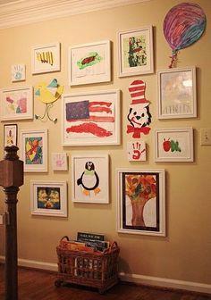 Mães podem aproveitar os desenhos dos filhos para decorar a casa -