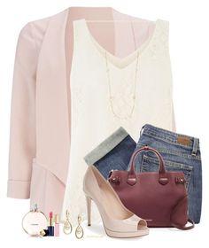 Pale Pink by houston555-396 on Polyvore featuring polyvore, fashion, style, Oasis, Wallis, Paige Denim, Fendi, Burberry, Majorica, Saks Fifth Avenue, Estée Lauder and Chanel