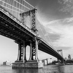 New York - New York - USA. Manhattan Bridge, George Washington Bridge, East River, White Photography, Nevada, Places To Travel, Utah, Arizona, New York