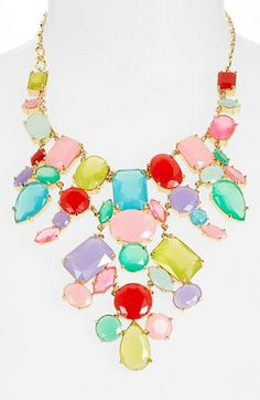 kate spade new york 'gumdrop gems' mixed stone bib necklace available at #Nordstrom