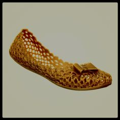 Look what's arrived: the fab Mel shoes Jube gold jelly shoes! Omg amazing!! #melshoes