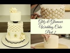 Learn to create this stunning wedding cake in our Glitz & Glamour series. In this video, we decorate this stunning cake with pleats, cushioning, piping, and ...