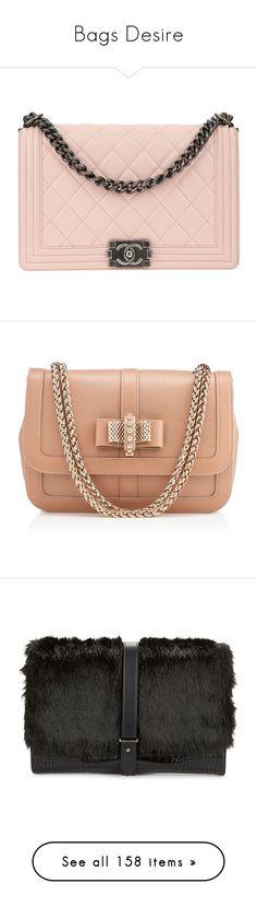 """Bags Desire"" by claudia-regina-vieira-correa on Polyvore featuring bags, handbags, chanel, pink cross body purse, cross-body handbag, pink crossbody purse, antique handbags, chanel bags, christian louboutin e nude"