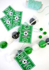 party candy tubes #worldcup #party #soccer #birthday