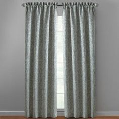 One of my favorite discoveries at ChristmasTreeShops.com: Light Green Damask Rod Pocket Window Curtains, Set of 2