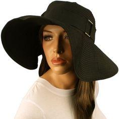 "50+ UPF Packable Beach Summer 4-3/8"" Wide Brim Buckle Floppy Sun Hat Cap Black SK Hat shop, http://www.amazon.com/dp/B007LM3Z4S/ref=cm_sw_r_pi_dp_QOraqb0GN1J6K"
