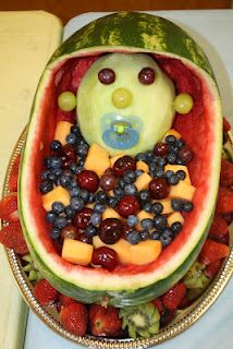 """A Slice of Smith Life: My friend made the """"fruit baby"""" decoration for a baby shower I co-hosted!"""