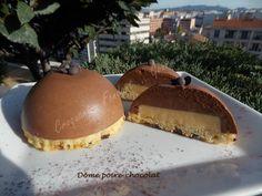 Un petit entremets individuel qui peut se préparer entièrement à l'avance. Ce Dôme poire-chocolat terminera en beauté un repas de fête!