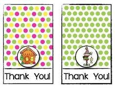 FREEBIE! Holiday Thank You Cards for Teachers. Print, cut, fold and write your message. ENJOY ...and Happy Holidays!