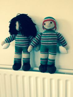 Made for Joe to raffle. A couple of Leicester Tiger dolls
