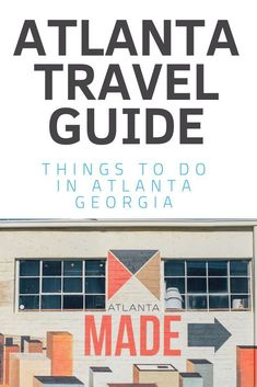 25 Fun Things To Do In Atlanta GA (This Weekend & Beyond) Use this Atlanta travel guide to help you plan your trip to Atlanta Georgia. It& mostly a list [& Travel Advice, Travel Tips, Travel Articles, Travel Destinations, Travel Stuff, Travel Goals, Budget Travel, Travel Guides, Atlanta Travel