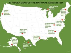 10 hidden gems of the National Park system. Which ones have you visited?