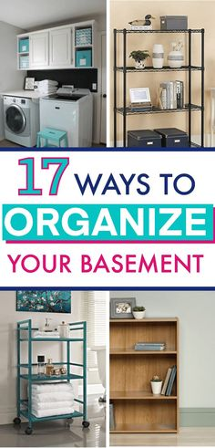 Don't let your basement become a dumping ground for all the things you don't know what to do with. Get inspired with these smart basement organization ideas and storage tips! How to Declutter and Organize the Basement Pegboard Organization, Small Bathroom Organization, Home Organization Hacks, Organizing Your Home, Organizing Ideas, Storing Books, Cube Organizer, Wire Shelving, Built In Storage