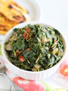 Jamaican Style Callaloo Jamaican Style - I would make it without the bacon.Callaloo Jamaican Style - I would make it without the bacon. Jamaican Cuisine, Jamaican Dishes, Jamaican Recipes, Jamaican Spinach Recipe, Jamaican Callaloo Recipe, Vegetable Recipes, Vegetarian Recipes, Cooking Recipes, Healthy Recipes