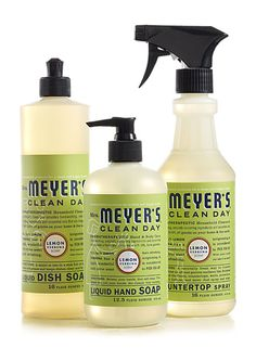 Lemon Verbena Kitchen Basics Set from Mrs. Meyer's Clean Day...great stuff and the bathroom cleaner works super.