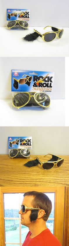 459ff6f095d Glasses 175646  15 Pair Of Gold Rock And Roll Sun Glasses With Sideburns  Elvis Sunglasses