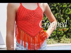 Cropped de Crochê alto verão | Anne | Professora Simone