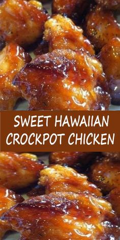 Sweet Hawaiian Crockpot Chicken Recipe Healthy Recipes Dinner Recipes Crockpot R. - Everything - Crockpot Recipes Chicken Thights Recipes, Chicken Parmesan Recipes, Healthy Chicken Recipes, Healthy Crockpot Recipes, Slow Cooker Recipes, Cooking Recipes, Cooking Videos, Crockpot Drinks, Cooking Classes