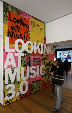 Project: Looking at Music Project Team: Julia Hoffmann (creative direction), Samuel Sherman (design), Melanie Malkin (production), Claire Corey (production) Photos: Martin Seck Spring 2011 Environmental Graphics, Environmental Design, Office Branding, Booth Design, Stand Design, Banner Design, Online Drawing, Web Design, Graphic Design