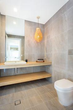 Stunning modern bathroom vanity in polytec Natural Oak Ravine