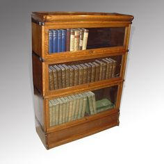 Three Section Vintage Bookcase