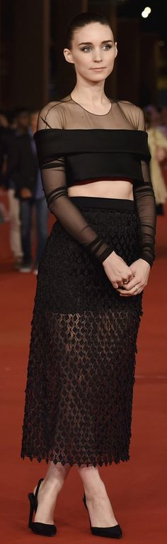 Pin for Later: Was Rooney Mara's Balenciaga Better on or Off the Runway?