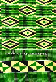Authentic Kente Print  African Fabric   Sold by TessWorldDesigns, $7.50
