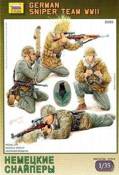 zvezda german sniper team WWII - Modeledo.pl